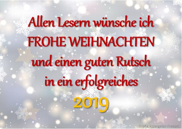 Weihnachten 2018 und Jahrewende 2019